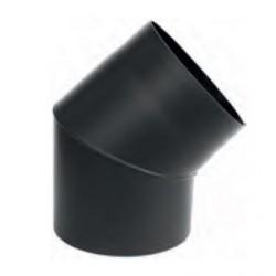 Kolano nastawne czarne 45* gr. 2mm