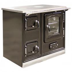 Kuchnia 10 kW LA ROYALE czarna emalia
