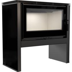 Piec wolnostojący 12 kW ARKE panel czarny