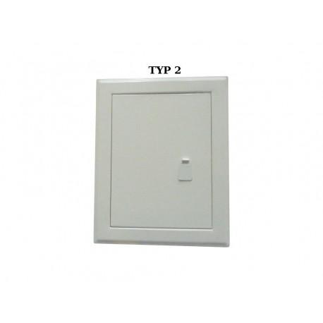 Drzwiczki rewizyjne metalowe białe-kolor zamek / uchwyt / zasuwka