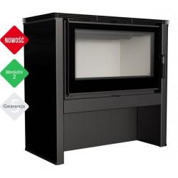 Piec wolnostojący 12 kW JUNO panel czarny