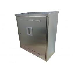 Skrzynka szafka gazowa  szlif nierdzewna bez pleców 60x60x25cm