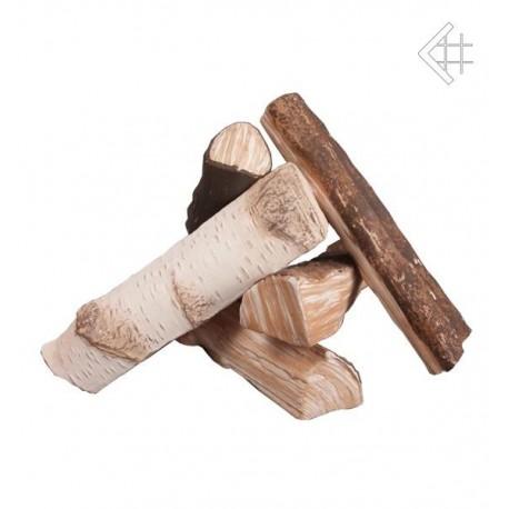 Eelementy ozdobne drewienka ceramiczne MIX