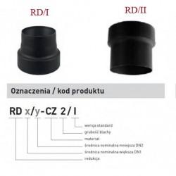 Redukcja RD czarna kominowa