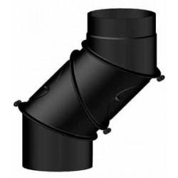 Kolano nastawne 4-seg. czarne gr. 2mm