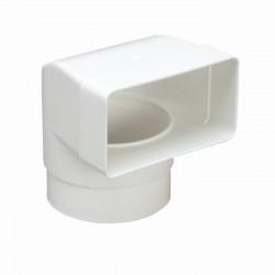 kolano płaskie prostokątne 58mm PVC 120x60mm