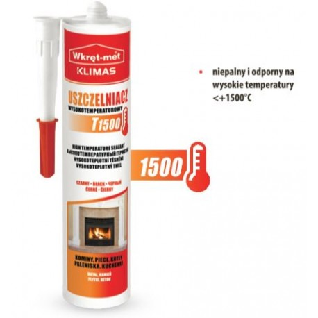 Uszczelniacz wysokotemperaturowy T1500 czarny