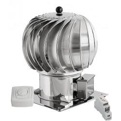 Turbowent hybrydowy fi 150 z podstawą kwadratową, regulatorem obrotów i zasilaczem napięcia stałego