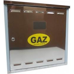 Szafka gazowa nierdzewna z plecami 60x60x25 cm