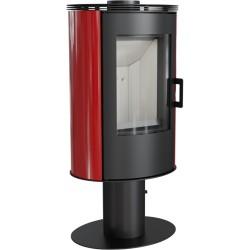 Piec KOZA AB S/N/O 8 kW fi 150 czerwony obrotowy z panelami kaflowymi