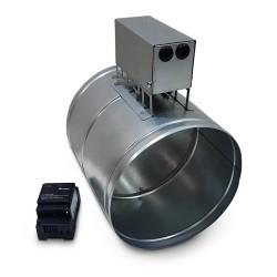 """Przepustnica elektr. """"Zamknij-Otwórz"""" z siłownikiem termicznym, uszczelką silikonową i z zasilaczem EZN-030M-0"""