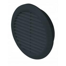 Kratka wentylacyjna czarna fi 125