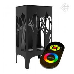 Biokominek FOXTROT czarny z podświetleniem LED