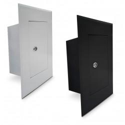 Drzwiczki kominowe wyczystka 13x26cm białe/czarne