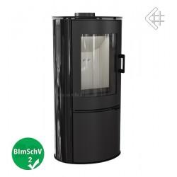 Piec KOZA AB S 8 kW fi 150 czarny z panelami kaflowymi