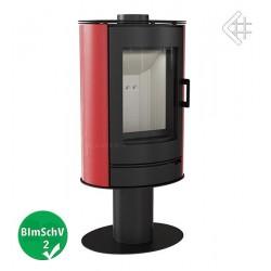 Piec KOZA AB S/N 8 kW fi 150 czerwony z panelami kaflowymi