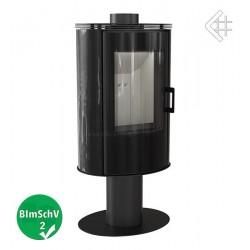 Piec KOZA AB S/N/O 8 kW fi 150  GLASS czarny obrotowy z panelami kaflowymi