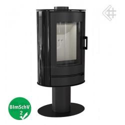 Piec KOZA AB S/N/O 8 kW fi 150 czarny obrotowy z panelami kaflowymi